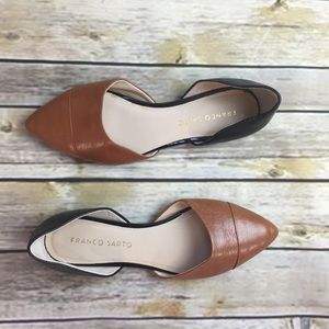 Franco Sarto 'Hawk' Leather D'Orsay Flats